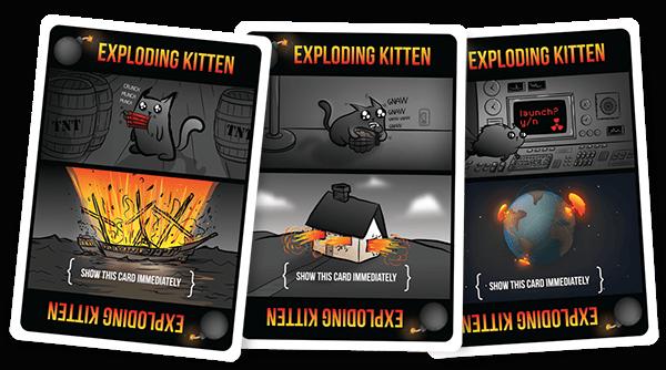 Exploding Kittens Card Samples