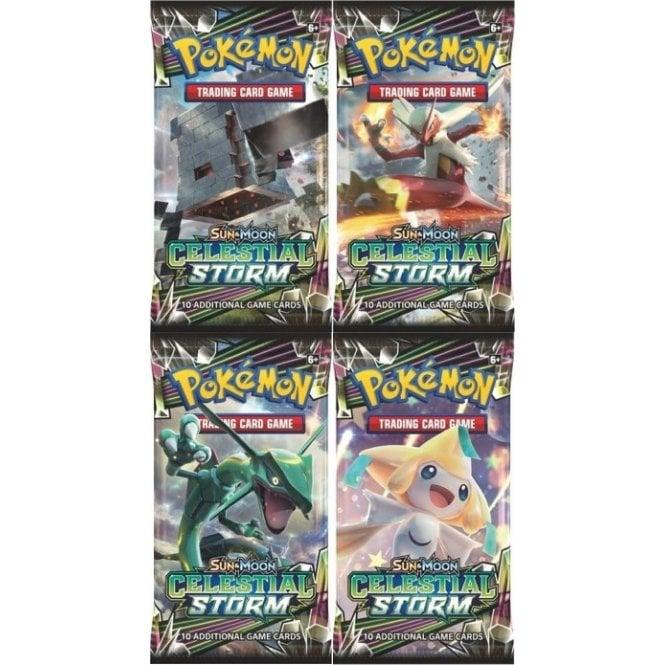 Pokemon SUN & MOON Celestial Storm 8 x Booster Pack Pokémon Trading Card  Game Pokémon Sealed Booster Packs